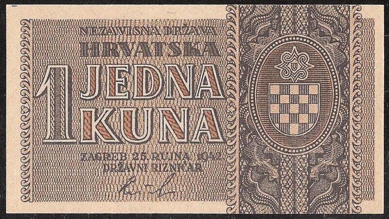 CROATIA 1 KUNA 1942 P:7b UNC