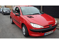 red 2005 206, with long mot only 1.1cc cheap on insurance nd fuel...