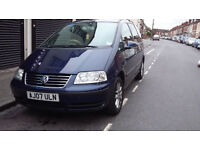 2007 BLUE SHARAN WITH LONG MOT...SEMI AUTO...GREAT CAR..