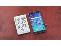 5.7 galaxy note 5 unlocked 4g ,32 gb boxed as new,top of the range .bought for 500 pounds
