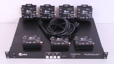 CE Labs HSW88C 8x8 HDMI Matrix Switch/ Switcher With 7 HSMR Plus Receivers  for sale  Shipping to India
