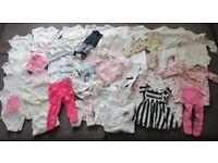 HUGE baby girls clothes bundle 0-3 months