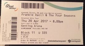 Frankie Valli & The Four Seasons, Birmingham Genting Arena, Thursday 20th April, FACE VALUE