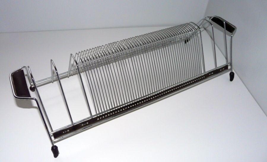 Vintage Retro Chrome Wire 45 Rpm 100 Single Record Rack
