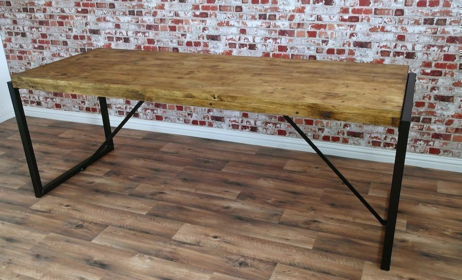 Steel amp Reclaimed Wood Industrial Dining Table Benches  : 86 from www.gumtree.com size 900 x 545 jpeg 101kB