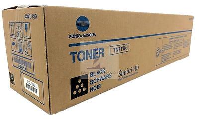 Genuine Konica Minolta BIZHUB C654/ C754 Black Toner Cartridge TN711K A3VU130 for sale  Shipping to India