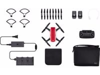New DJI Spark Fly More Combo Kit, Lava Red