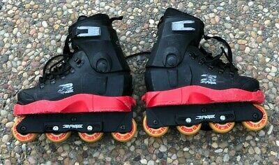 $400 Aggressive Rollerblades Inline Roller Skates Mens 7 Aeon Razors Salomon ST