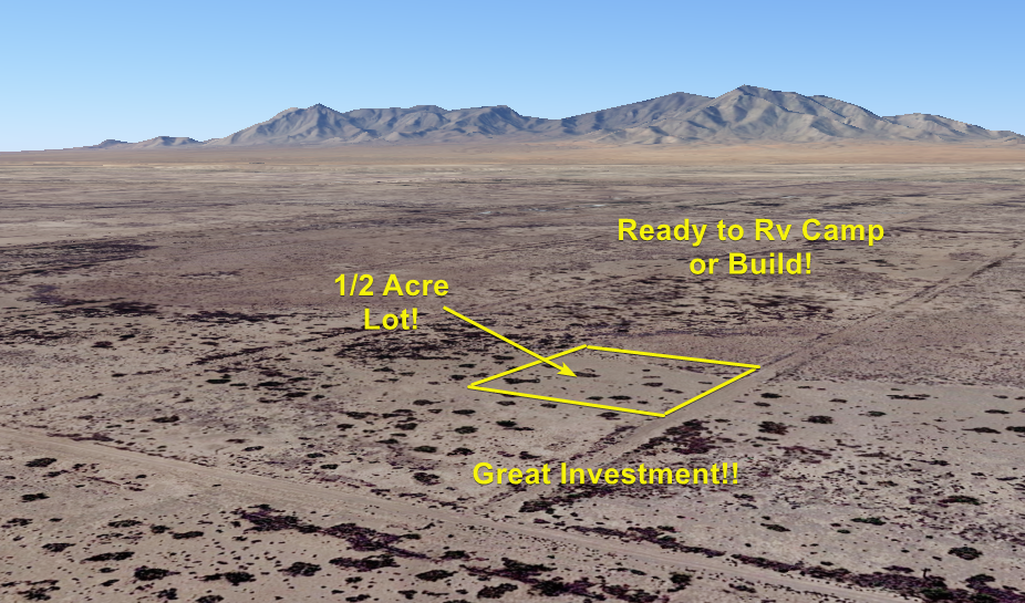 NO RESERVE 1/2 Acre Of Land Deming, New Mexico. Ready To Build INVEST TODAY  - $307.00
