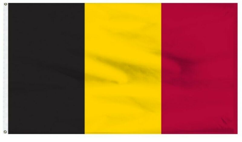 The Flag of Belgium, Home of the best waffles, 3 X 5 ft BRAND NEW !