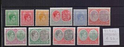 ! St Kits&Nevis 1938-1943. Stamp. YT#93/102. €52.00!