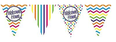 Welcome Home Flag Bunting Garland Banner Party Decoration 12ft