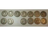 Canada 1 Roll of Mixed George VI cents 1937-1952 50 mixed coins