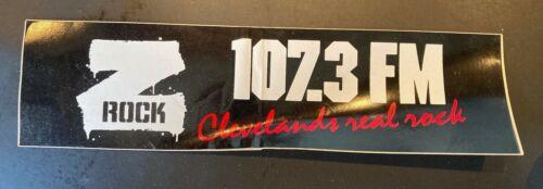 Vintage 1980s Z Rock 107.3 FM Rock Bumper Sticker Cleveland Radio 80s NOS Metal
