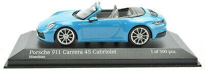 Minichamps Porsche 911 991.2 Red Carrera 4S Cabriolet 1:43 Diecast Car 410067230