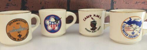 Vintage Boy Scout Coffee Mug Lot of 4
