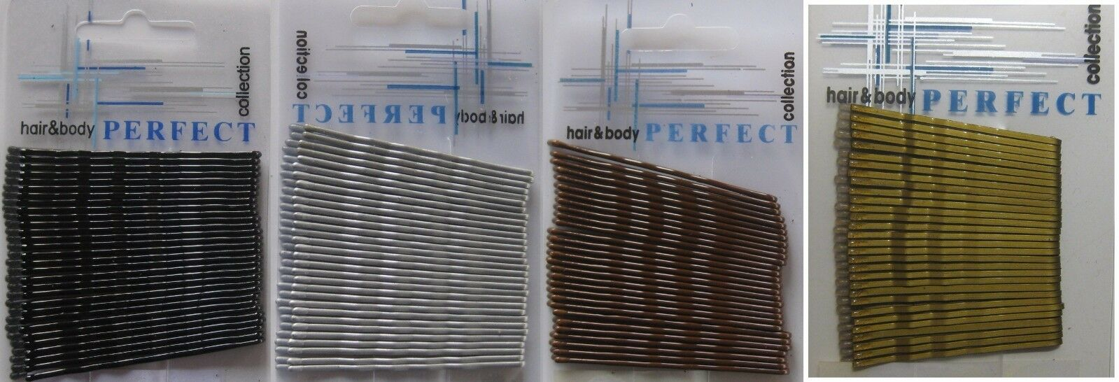 30 St. Haarklemmen Haarnadeln Haarklammern Tropfenenden gewellt lang ca 67mm TOP