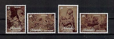 Aitutaki Michelnummer 428 - 431 postfrisch (Kunst 678 )