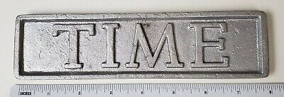 Newspaper Stand Paper Weight Time Magazine sign Lot s1 silver color Vintage