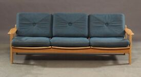 Danish vintage 1970 three seater sofa