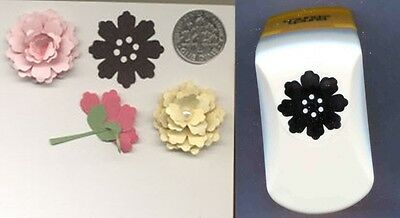 - Silhouette Flower 2 Lg Paper Punch x Punch Bunch W/Instr Quilling-Cardmaking