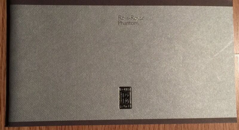 "Rolls-Royce Sales Brochure ""Phantom"""