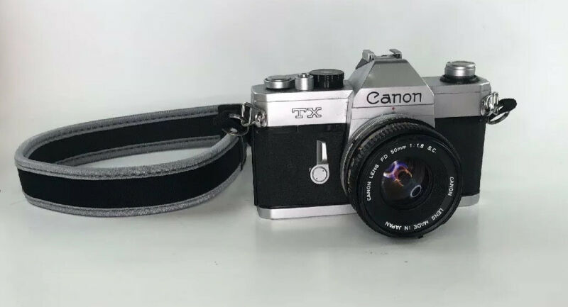 Canon TX 35mm Camera  - with Canon FD 50mm f1.8 Lens