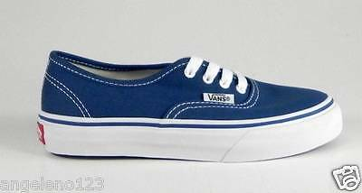 VANS Authentic Navy Blue Shoes Classic Kids Youth Boys Sneakers VN 0EE0NVY