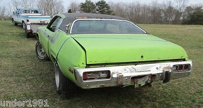 1973 1974 PLYMOUTH SATELLITE ROADRUNNER RIGHT PARKING LIGHT HOUSING PROJECT PART