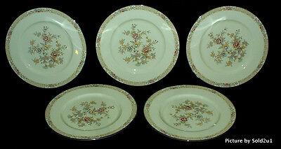 5 Noritake Imperial Garden Dinner Plates   9720 Mint
