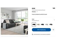 IKEA KIVIK Three-seat sofa - Dark Grey (free single mattresss)