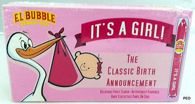 It's A Girl Bubble Gum Cigars Candy 36 Count Box Bulk Candies Bubblegum Its Baby - Bubblegum Cigars