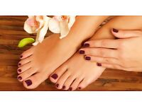 manicures/pedicures with gel polish/opi polish