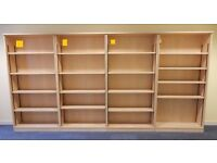 4 open front Bookcases 8 availabe