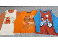 3 long sleeved tops for a 2-3 year old