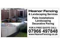HEANOR FENCING AND LANDSCAPING SERVICES .DIGGER HIRE WITH DRIVER