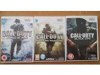 NINTENDO Wii Call of duty games bundle