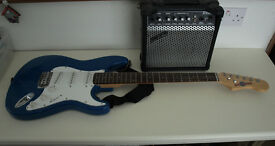 Electric guitar & practice amp