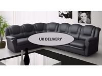 *BRAND NEW* The Ohio/Texas 7 seater corner suite *** FREE DELIVERY*** Available in black or brown