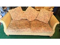 Wicker Sofa and Armchairs (2)