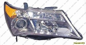 Head Light Passenger Side Sport Models With Adaptive Lamp High Quality Acura MDX 2007-2009