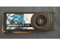 MSI NVIDIA GTX770 OC graphics card GPU