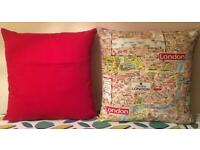 New Handmade 60cm x 60cm A-Z Map of London Cushion for Christmas Gift - collect from Gosport