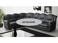 Brand new stunning 7 seater corner sofa, available in 3 colours and varoius materials