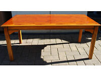 LARGE YEW COFFE TABLE