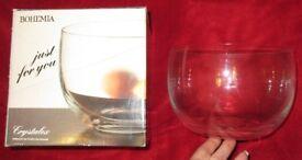 Bohemia Plain Glass Bowl Boxed
