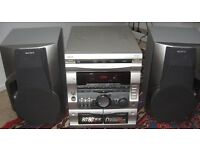 Sony DHC-RX707 3-CD mini hifi 2x50 watts , with aux input, great for parties