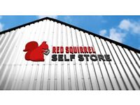 Red Squirrel Self Storage Cumbernauld available now! 50% off 1st 2 months!