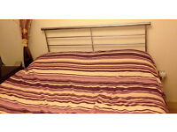 DOUBLE DIVAN BED WITH MATTRESS AND HEADBOARD ARE AVAILABLE FOR SAL