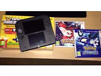 Nintendo 2DS Super Mario Bros 2 Special Edition + Pokemon Y & Alpha Sapphire + Nintendo Case
